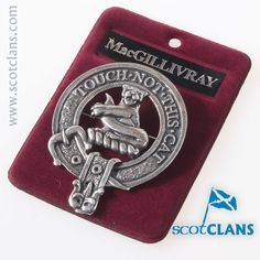 MacGillivray Clan Crest Cap Badge. Free worldwide shipping available.