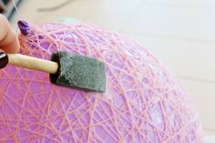 easter string baskets made with mod podge | Vintage Inspired Easter Egg DIY