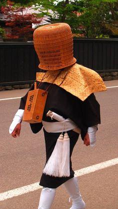 Japanese Komuso monk