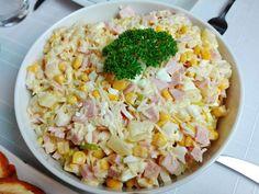 Swojskie jedzonko: Sałatka królewska z ananasem Grains, Salads, Food And Drink, Rice, Cooking, Blog, Pineapple, Kitchens, Kitchen