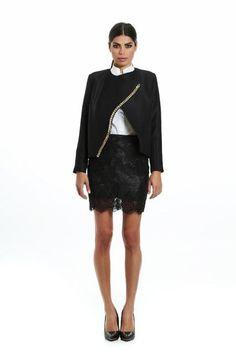 Chained black jacket Social Club, Wool, Cotton, Designers, Jackets, Chain, Black, Dresses, Fashion