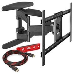 Heavy-Duty Full Motion TV Wall Mount Articulating Swivel Bracket Fits Flat Screen Televisions from 42 to 70 (VESA 400 x 600 Compatible) Tilt Swing Out Arm with 10 HDMI Cable Corner Tv Wall Mount, Best Tv Wall Mount, Tv Wall Mount Bracket, Wall Mounted Tv, 70 Inch Tvs, Swivel Tv Stand, Tv Panel, Audio, Flat Screen