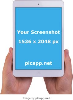 Add your mobile app screenshot image to an iPhone frame, iPad frame or Android device frame. Ipad Image, I Pad 2, New Ios, Ipad Air 2, Ios App, Apple Ipad, Mobile App, Mockup, Template