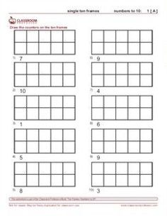 Printable number line 1 to 10 for kids - Free Math worksheets ...