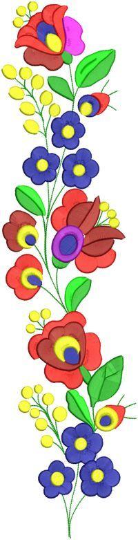 Matyóhímzés 209 Embroidery Transfers, Hand Embroidery Patterns, Beading Patterns, Embroidery Designs, Mexican Embroidery, Hungarian Embroidery, Vintage Embroidery, Folk Art Flowers, Flower Art