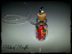 Bottle charm, candy charm, charm necklace, candy jewelry. $18.00, via Etsy.