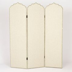 Hara Upholstered Screen | World Market - makes for a great room divider