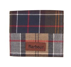Constructed in a mix of Barbour's house tartans, this billfold wallet features a note section and slots for eight cards. It's finished with a genuine leather interior and an embossed Barbour logo on a leather patch at the outer front, and presented in a branded gift box. The wallet also offers RFID blocking technology for extra security when you're out and about. Trimmed with a tartan inner lining, the wallet is finished with an embossed logo to the outside.