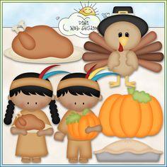 Thanksgiving Day 1 - NE Kristi W. Designs Clip Art : Digi Web Studio, Clip Art, Printable Crafts & Digital Scrapbooking!