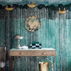 If the Blue Fits - Art-deco inspired rooms where specialist finished enliven a restrained palette - decoration on HOUSE by House & Garden Interior Inspiration, Room Inspiration, Art Deco Desk, Bamboo House, Art Deco Fashion, Home And Garden, House Design, Interior Design, Instagram Posts