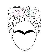 Cross Stitch Embroidery, Embroidery Patterns, Cross Stitch Patterns, Machine Embroidery, Diego Rivera Frida Kahlo, Painted Plant Pots, Wet Felting, Whimsical Art, Cute Art