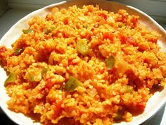 Delicious and wholesome bulgur wheat with onions, tomatoes and peppers – a meal on its own! Delicious and wholesome bulgur wheat with onions, tomatoes and peppers – a meal on its own! Armenian Recipes, Turkish Recipes, Ethnic Recipes, Healthy Eating Recipes, Vegetarian Recipes, Cooking Recipes, Bulgur Recipes, Rice Recipes, Risotto