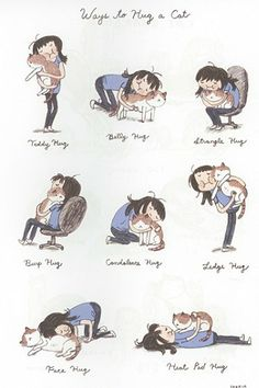 Ways to hug a Cat! from Cat Person By Seo Kim