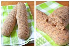 Schnelle Vollkorn-Baguettes
