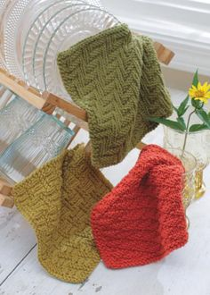 Dishcloths, Easy Textured Knits
