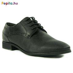 Bugatti férfi alkalmi cipő, struktúrált bőr felsőrésszel, fekete színben.Tetszetős, és divatos alkalmi viselet. Méret:43 Men Dress, Dress Shoes, Bugatti, Derby, Oxford Shoes, Lace Up, Fashion, Moda, Fashion Styles