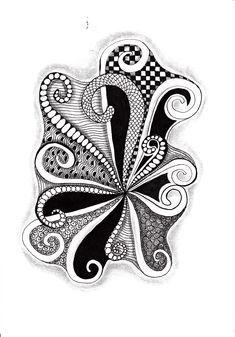 Renates Zentangle 10.08.2018 Zentangles, Brooch, Jewelry, Art, Art Background, Jewlery, Jewerly, Zentangle, Brooches