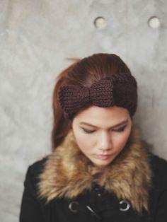 Cute Bow Knit Headband