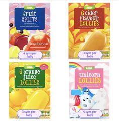 Slimming World Tips, Apple Juice, Asda, Freezer, Ice Cream, Fruit, Healthy, Breakfast, Recipes