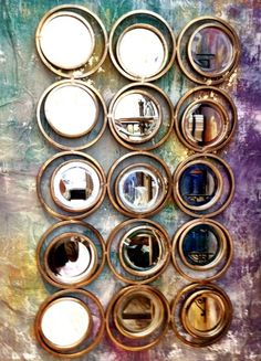 Dollar Store Crafts » Blog Archive Anthropologie Inspired Circles Mirror DIY Tutorial with Video