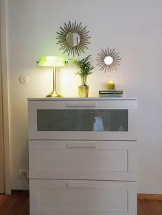Ikea #brimnes for entryway closet. #goldmirror #sunmirror