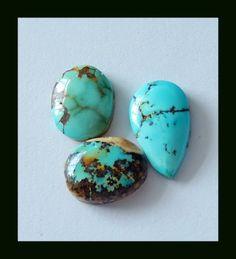 Arizona Turquoise Gemstone Cabochons,18 cts