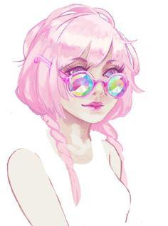 pink hair anime