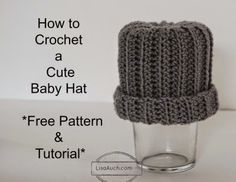 NEW:  How to #Crochet an Easy Baby Hat Free Pattern and Tutorial Ideal for Beginners ( Easy Baby Hat from a Rectangle)