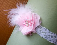Baby Headband RTS Newborn Headband Newborn Photo by BabyGraceHats, $12.00