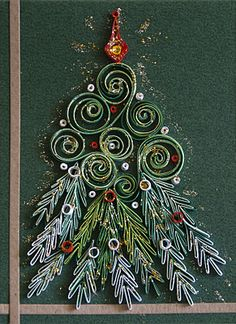 Quilled Christmas tree!