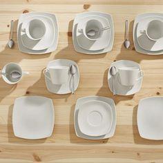 18-teiliges Kaffeeservice in Weiß - ein schicker Blickfang bei Tisch