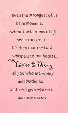 I come to you Lord!