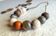 Ceramic beads Set of 10 unique ceramic beads par CouleursDeTerre
