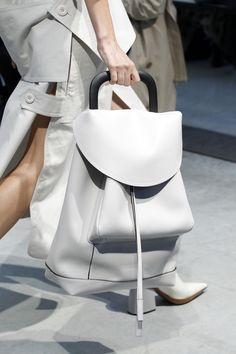 Oversized Handbag - white bag, minimalist fashion details // Marni Spring 2017
