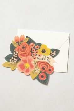 Floral Valentine Card - Rifle Paper Co cc: @Lisa Phillips-Barton Phillips-Barton Campbell
