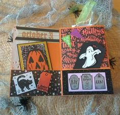 Halloween Mini Album Halloween Mini Albums, Halloween Projects, Scary, Craft Supplies, Blog, Crafts, Design, Manualidades
