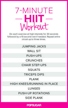 seven-minute HIIT workout here!