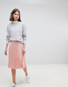 Moss Copenhagen Midi Skirt With Pleats