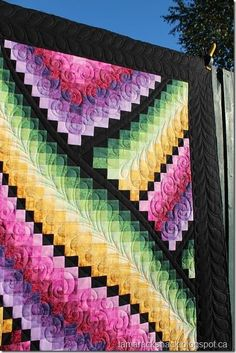 bargello - love the black with the bright colors