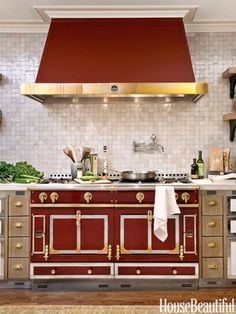 Red Statement Stove