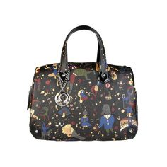 """Collection """"Magic Circus""""- Handbag of eco leather applied logo- double handle- Zip fastening- inside: 1 compartment 1 zip pocket a phone pocket- dust bag includ Louis Vuitton Speedy Bag, Women, Fashion, Moda, Fashion Styles, Fashion Illustrations, Woman"""