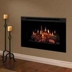 Electric Fireplace Mounts Flush With The Wall For Use In Dining Area?