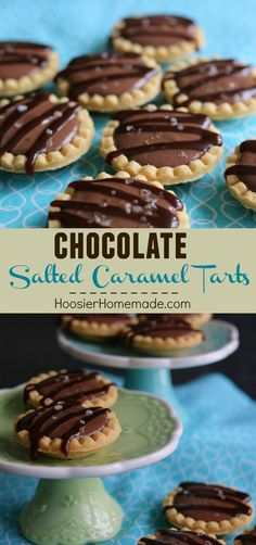Chocolate Salted Caramel Tarts - only 5 ingredients and ready in less than 15 minutes! That's MY kind of dessert! Pin to your Recipe Board!