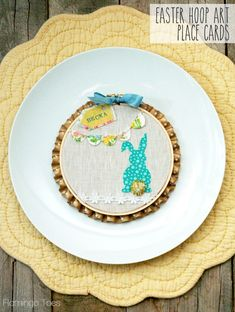 Easter Bunny Hoop Art Place Cards