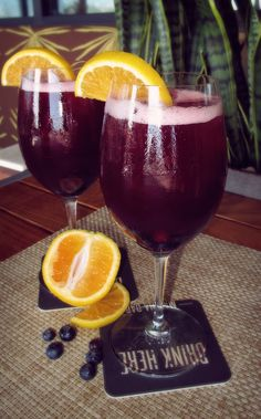 The Sangri-ee is made with Sextant Zinfandel, Buffalo Trace, Veev Acai, Triple Sec, Cranberry, lime juice, soda water, and fruit! #drink #cocktail #sandiego