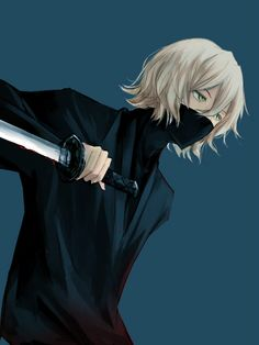 Urahara Kisuke. This is how he would look like in action (for the Survey Corps).