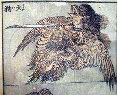 Drawing of a tengu - Katsushika Hokusai