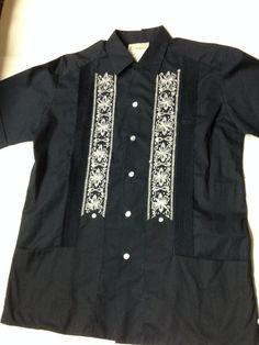 mens campos guayabera mexican wedding shirt by heidisvintageshop