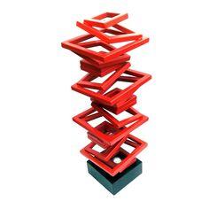 """Columna"" homenaje a Constantin Brascusi"" escultura en metal"