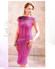 Dy Crochê!: Mais dois lindos vestidos da net (com gráfico)!!!